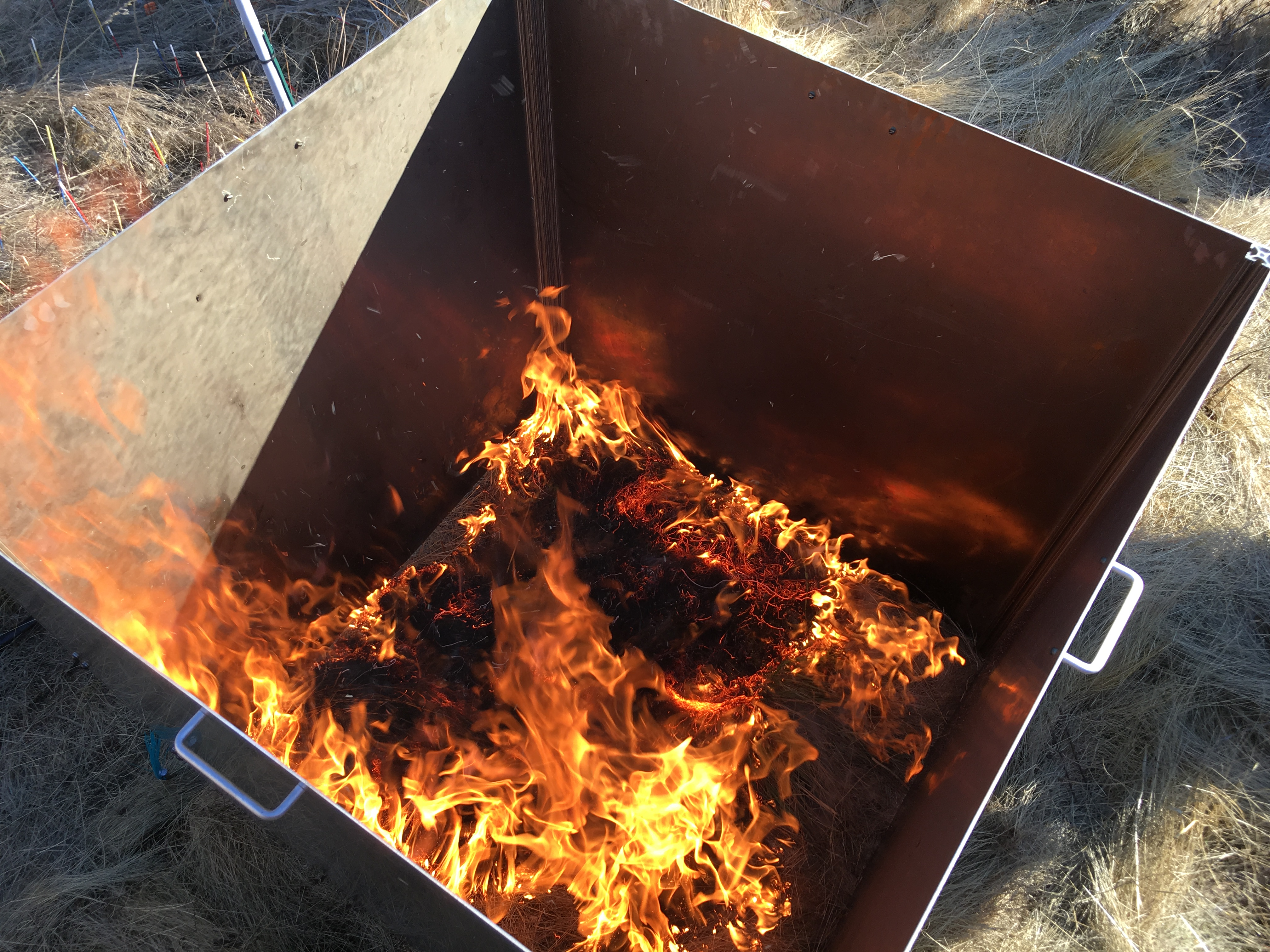 Alejandro's burn box in use for replicated, safe burns